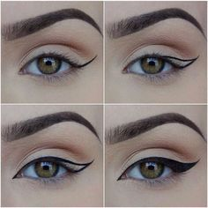 omghow How To Put on Liquid Eyeliner ❤ liked on Polyvore featuring beauty products, makeup, eye makeup, eyeliner, liquid eyeliner and liquid eye lin