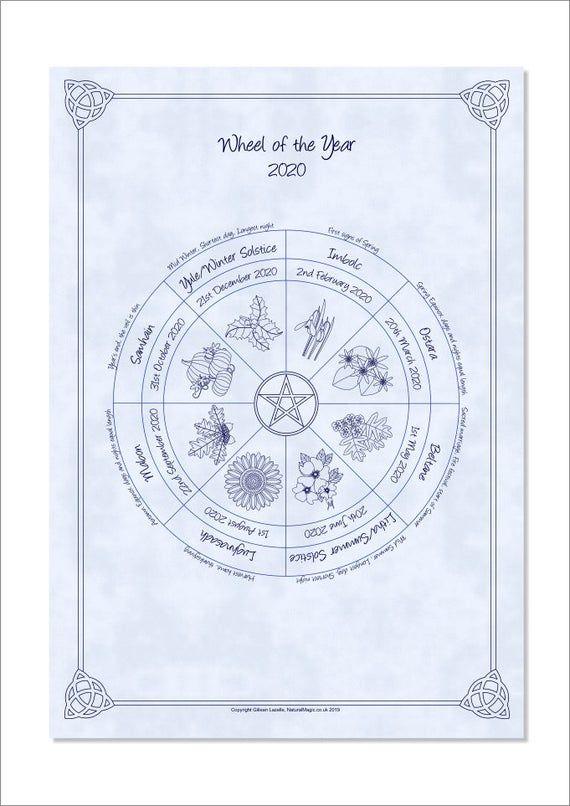 Images of Pagan Holiday Calendar 2021