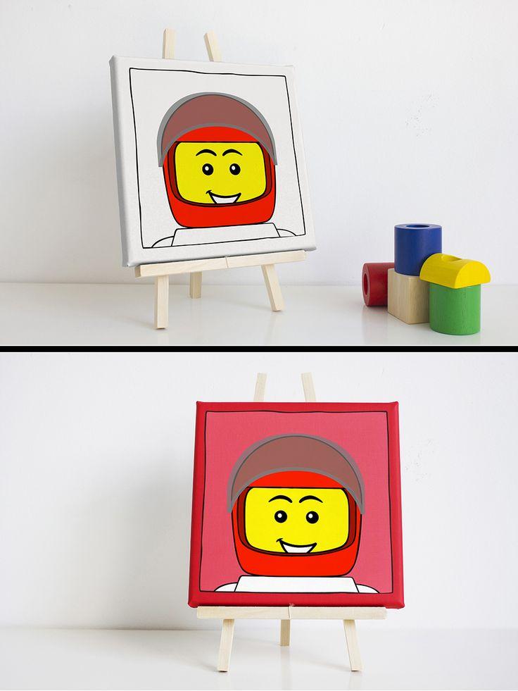 25 beste idee n over lego poppetje op pinterest lego display lego en jongens lego slaapkamer - Schilderij slaapkamer kind ...