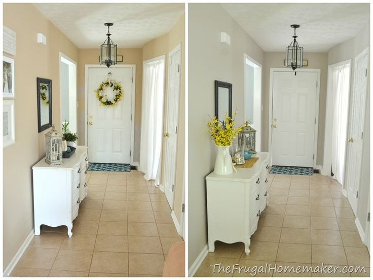 Foyer Paint Colors Behr : Entryway beforeafter whole length for the home