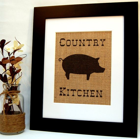 Country kitchen pig kitchen decor rustic kitchen Pig kitchen decor