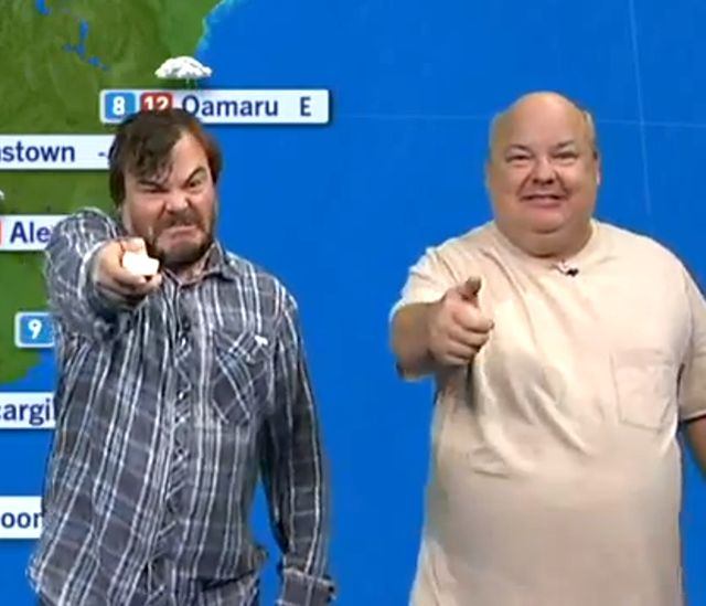 Jack Black & Kyle Gass of Tenacious D Report the Morning Weather in New Zealand