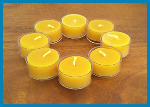 Beeswax Tealight Candles ~ set of 8 - Venue and reception decor (*Amazon Partner-Link)