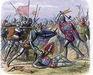 Henry V Rescues Gloucester at Battle of Agincourt