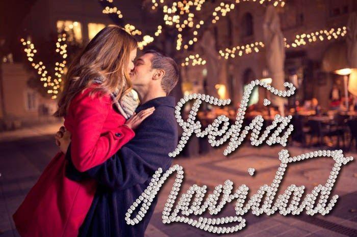 Imagenes de parejas besandose feliz navidad