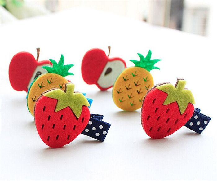 Find More Hair Accessories Information about Novelty Fruit Hairpins Non woven Felt Colorful Pineapple Cherry Pear Apple Cute Fashion Hair Clip Cartoon Kid Hair Barrettes,High Quality barrett price,China fruit plush Suppliers, Cheap barrett round from Baby go! on Aliexpress.com