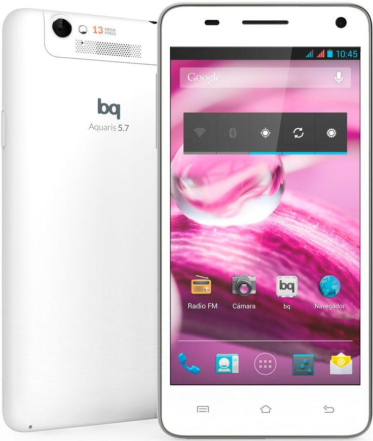 La phablet de BQ el Aquaris 5.7 en edición limitada en blanco:  http://encane.com/bq-tablets-ebooks-smartphones/smartphone-bq-aquaris-57-blanco