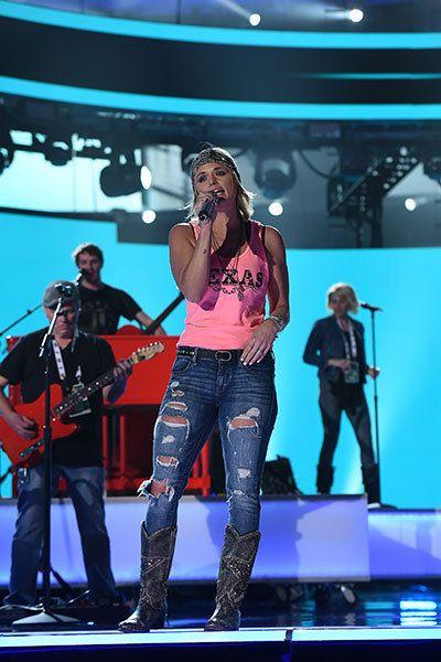 Miranda Lambert rehearses for the 50th ACM Awards on April 17, 2015, in Arlington, Texas.