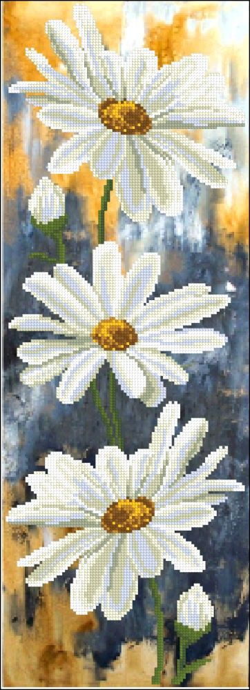 Вышивание / Вышивка нитками / Краса и творчество  / Панорамная (частичная) вышивка /  - Ромашки 1 (Camomile 1) 51115(Краса и творчество (Украина))