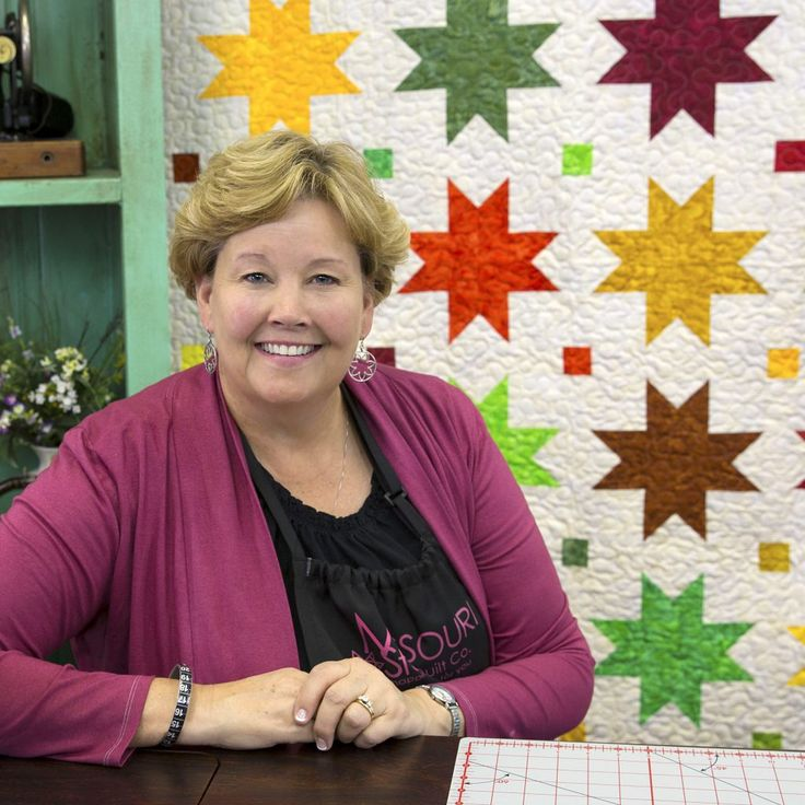 "Make the Autumn Sweet Stars Quilt Using 2.5"" Strips with Jenny Doan! Free Video Tutorial!"