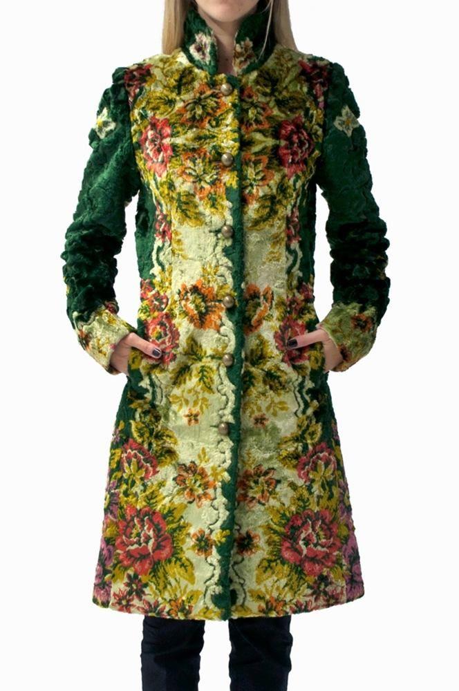 Floral Velvet Coat