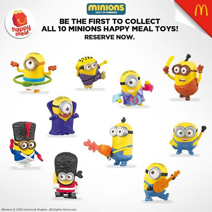** Minions McDonald's Happy Meal 2015 Collection all 10 minions Rare Cool **  | eBay