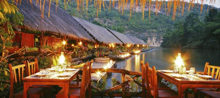 Thailand Awarded Floating Hotel in Kanchanaburi l River Kwai Jungle Rafts l Floatel