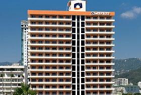 Hotel Casa Inn, Acapulco, Guerrero, México.  Zona Dorada del lado de la Playa. Frente al Baby O y cerca del Cici.