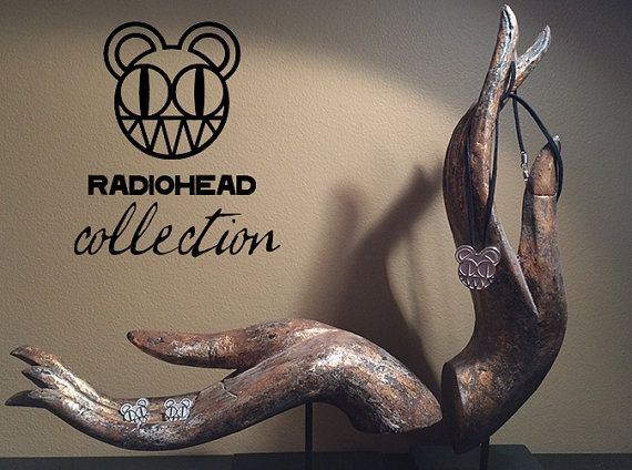 Radiohead Necklace   Modified Bear  Kid A by JoyComplex on Etsy, $97.50