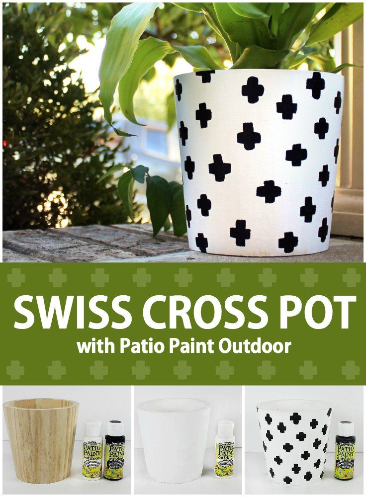 Superior Could Painting A Trendy Flower Pot With Patio Paints Be Any Easier?  @DecoArt #