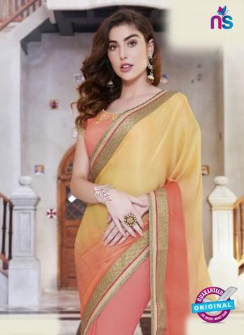 AZ 5118 Peach Georgette Party Wear Saree