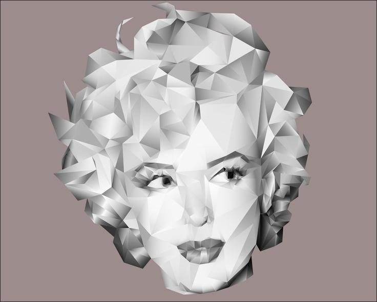 Marilyn Monroe Poligon By Carlos Alberto Mtz.