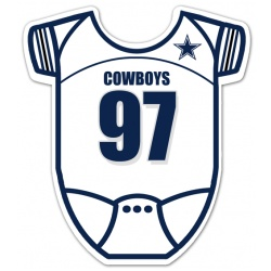Dallas Cowboys Onesie Baby Shower Invitations