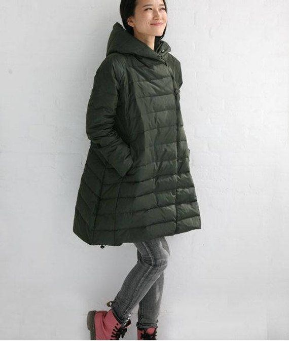 2f0351bddc9 Size S-10XL A-Line Winter Coat jacket Thick Women Warm Hooded Down jacket  Plus Size down coat