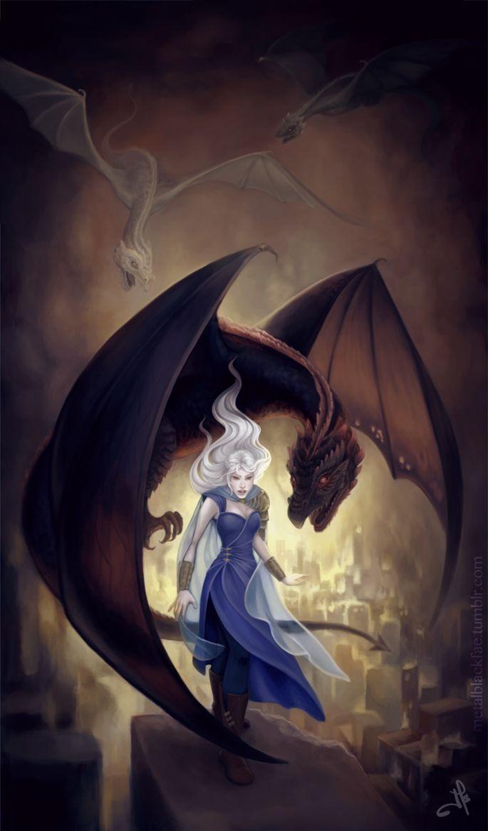 Dragons game of thrones colors - Daenerys Targaryen Game Of Thrones Juls Sosa