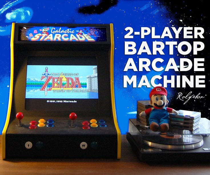The 'Galactic Starcade' is a DIY retro bartop arcade cabinet for two players. It is powered by the Raspberry Pi micro-computer and plays multiple type...