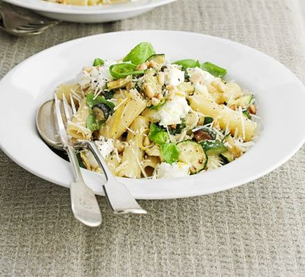 Soft Italian cheeses like ricotta make a great sauce base when mixed with lemon, greens, herbs and pine nuts