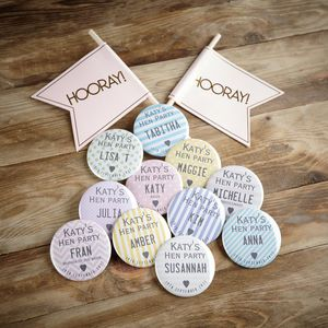 Personalised Hen Night Badges - hen party styling