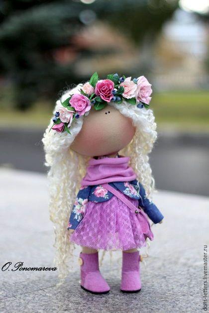 Человечки ручной работы. Текстильная кукла. Ольга Пономарёва. Ярмарка Мастеров. Купить куклу из ткани, американский хлопок, шерсть овечья