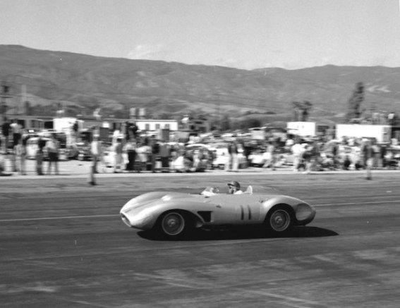 John Von Neumann driving his 1957 Ferrari 625 TRC at Santa Barbara on May 19, 1957. (photo: Art Evans Collection)