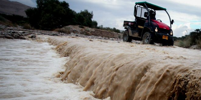 As Jews across Israel celebrated the Jewish New Year, parts of the country were hit with extreme flash flooding and hail in an unusual change of weather.