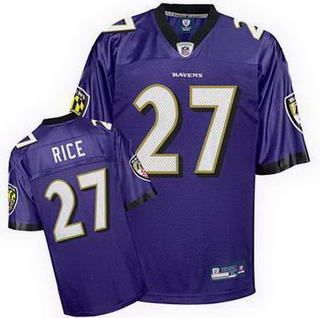 Baltimore Ravens 27 Rice Team Color Jerseys