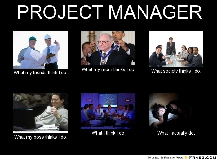 What people think a project manager do what people for Do my project