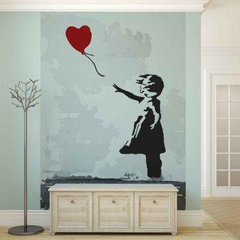 Fotomurale Banksy Street Art Balloon Heart Graffiti