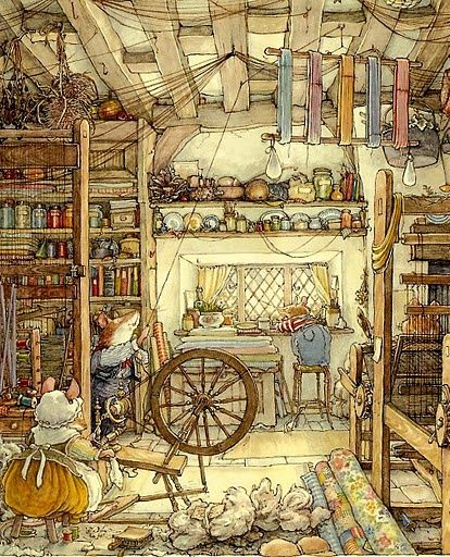 Jill Barklem - Brambly Hedge. Read these my whole childhood. Kinda what our house looked like sometimes too.