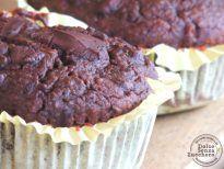Muffin al Cioccolato e Burro di Mandorle è una ricetta per muffin al cioccolato Senza Glutine e senza latticini: Ricetta naturale a basso indice glicemico