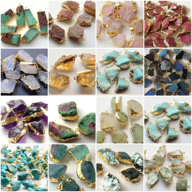 Rough Gemstone Connectors in all stones. A wide variety to choose from. Fir all the raw rugged look designs shop these now. Only in Gemsforjewels. Flat 45% off on all items.