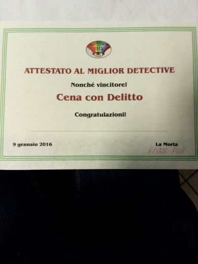Cena con delitto a Rovereto. Caso risolto.
