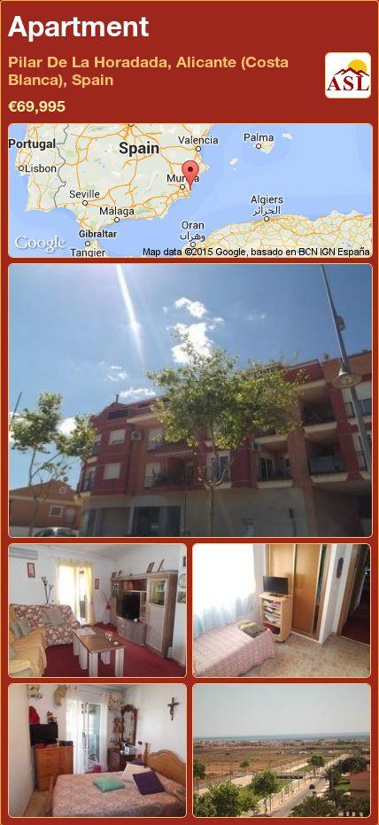 Apartment in Pilar De La Horadada, Alicante (Costa Blanca), Spain ►€69,995 #PropertyForSaleInSpain