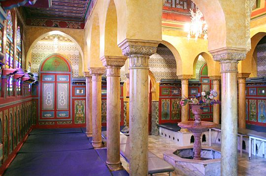 The Hammam at the Paris Mosque