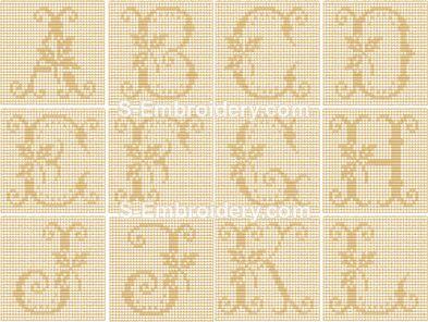 Crochet monograms aphabet part 1