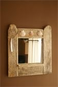 Driftwood mirror hand made from wood found on Newquay's beaches in Cornwall.