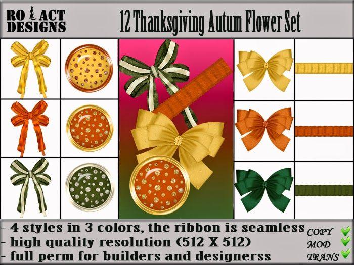 Ro!Act Designs 12 Thanksgiving Autum Clothing Accessories Set