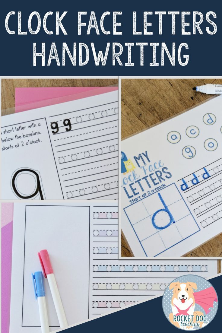 Are Your Students Struggling With Correct Letter Formation And Starting Points In Their Handwriting This Clock Face Le In 2020 Clock Face Letter Formation Handwriting [ 1104 x 736 Pixel ]