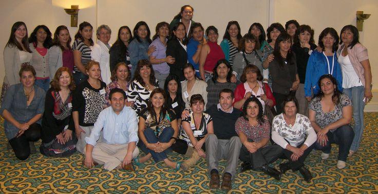 Relatores: Raul Herrera - Carolina Herrera - Joaquin Bode junto al grupo de alumnas de la JUNJI II Region