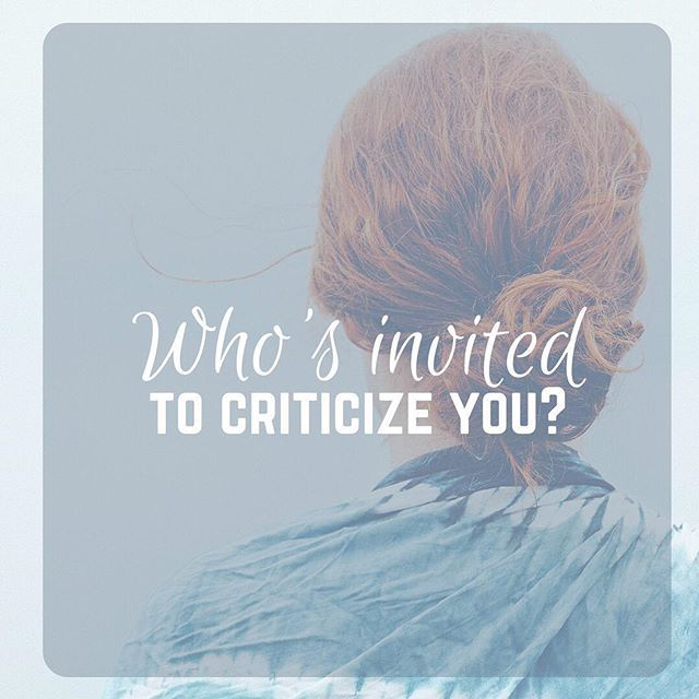 "Before you scroll past the word ""criticize""... let me give you an awesome definition that I read recently. The word criticize comes from the Medieval Latin word ""constructivus"" which is equivalent to the Latin word ""construct"". _ We're all painfully aware of what negative and hurtful criticism does to our hearts. Especially as #womeninministry right?! But what if we invited others to criticize us in order to ""promote further development or advancement"" in our lives?  _ When you develop deep…"