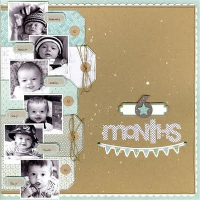 love tags- wish I had done this when my kids were this little. fabulous way to document the first 6 months!!!!!