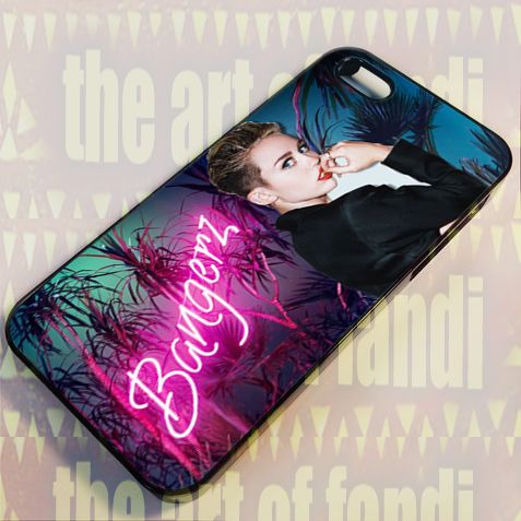 Miley Cyrus Bangerz For iPhone 5/5c/5s Black Rubber Case