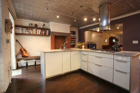 PeterHasslerHouseTour_Image4.jpg: House Tours, Brooklyn Brownstone, 1892 Brooklyn, Tins Ceilings, Peter O'Tool, Peter 1892, Kitchens Cupboards, Cool Kitchens, Dream Kitchens