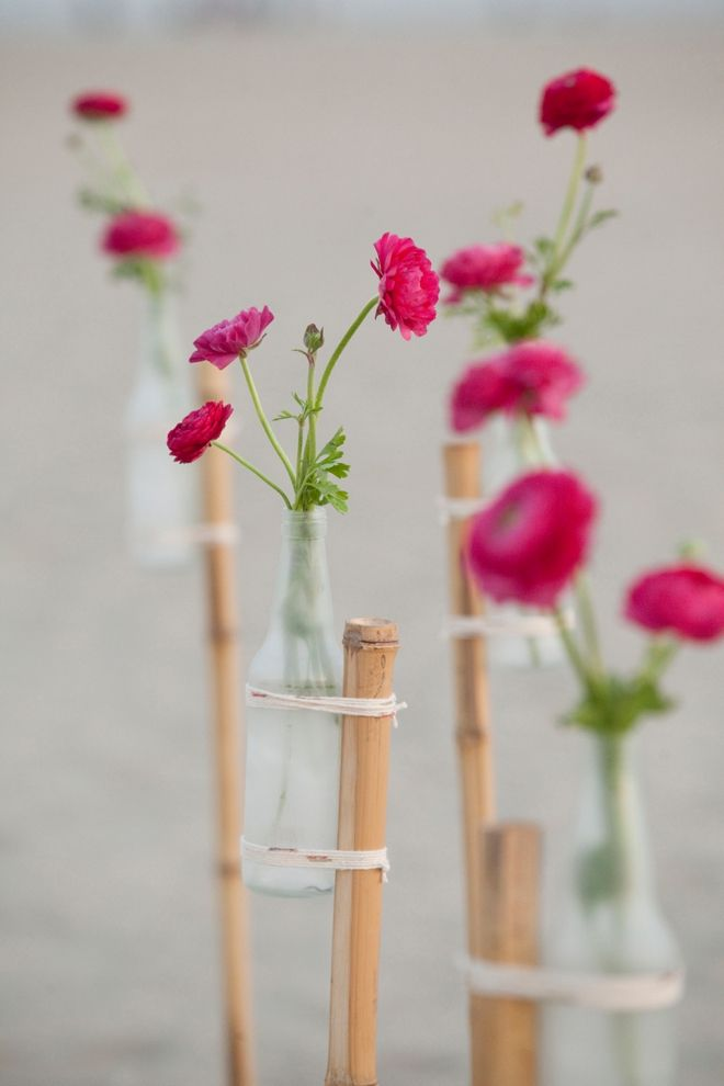 Love these for a beach ceremony   learn how to DIY them!